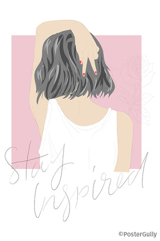 Stay Inspired Girl Artwork