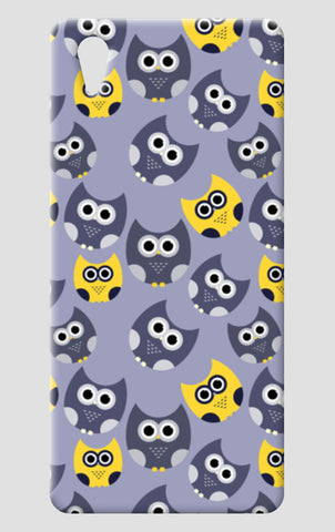 Owl illustrations pattern on gray background One Plus X Cases | Artist : Designerchennai