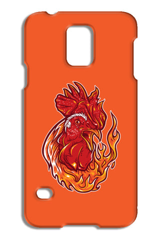Rooster On Fire Samsung Galaxy S5 Cases | Artist : Inderpreet Singh