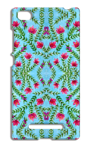 Blue And Pink Traditional Watercolour Floral Pattern Xiaomi Mi 4i Cases | Artist : Seema Hooda