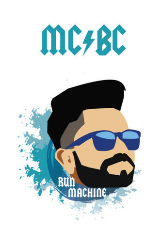 Virat Kohli | MCBC | Illustration Wall Art | Artist : Sandeep Narayan
