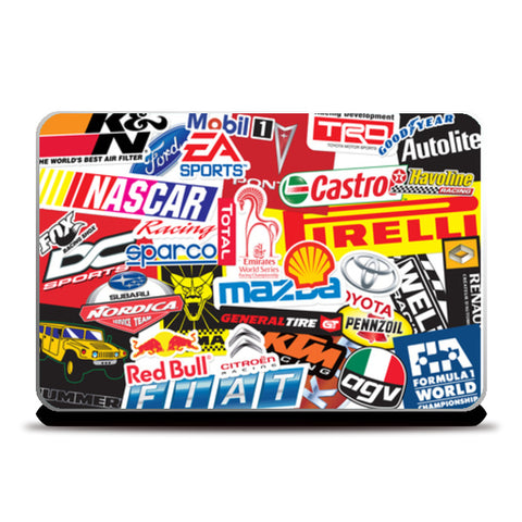 Auto Freak Sticker Bomb Laptop Skins | Artist : Scatterred Partikles