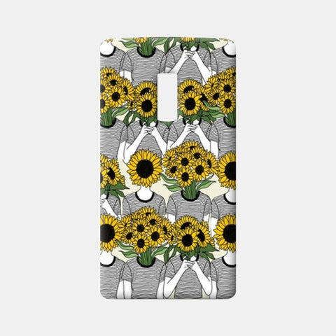 Sunflowers Collage One Plus Two Cases | Artist : Priyanka Paul