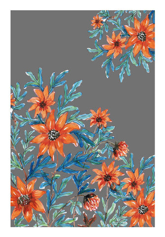 Orange Wildflowers Painting Floral Decor  Art PosterGully Specials