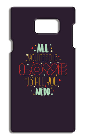 All you need is love is all you need Samsung Galaxy Note 5 Cases | Artist : Designerchennai