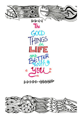 Wall Art, The good things in life are better with you Wall Art | Artist : Amulya Jayapal, - PosterGully