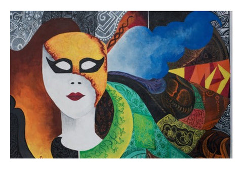 The Mask Wall Art  | Artist : Shweta Ektare