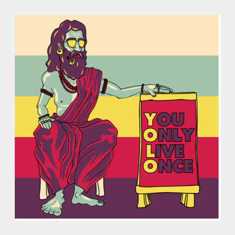 YOLO Square Art Prints | Artist : Dishant Bhatia
