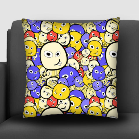 Doodle cartoon characters  Cushion Covers | Artist : Designerchennai