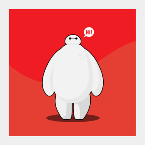 baymax Square Art Prints | Artist : NextDesigns