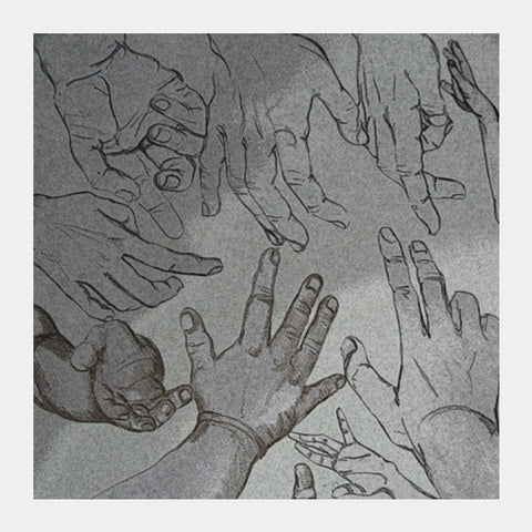 hands for help Square Art Prints | Artist : amit kumar