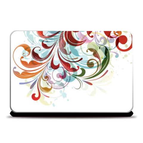 Laptop Skins, Floral Abstract Laptop Skin | Artist : Gagandeep Singh, - PosterGully