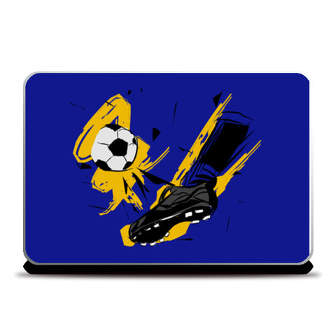 Player Shoes Hitting Football | #Footballfan Laptop Skins | Artist : Creative DJ