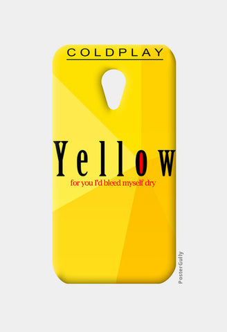 Moto G2 Cases, Yellow - Coldplay Moto G2 Cases | Artist : Aishwarya Tandon, - PosterGully