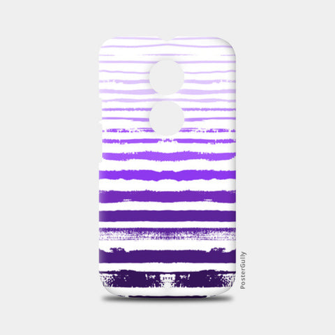 Uneven Purple Stripes Moto X2 Cases | Artist : Amantrika Saraogi
