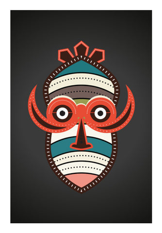 African Authentic Mask Art PosterGully Specials