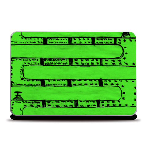 Pipeline Green Laptop Skins | Artist : prat
