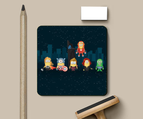 Coasters, Minion Avengers Night Coasters | Artist : Ronak Mantri, - PosterGully