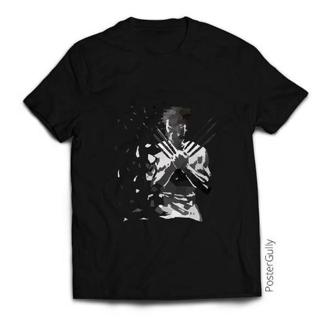 T Shirts, Low Poly Wolverine Dispersed T-shirt | Artist: Darshan Gajara, - PosterGully