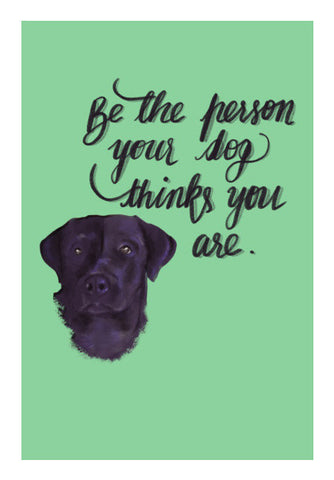 Dog Person Art PosterGully Specials