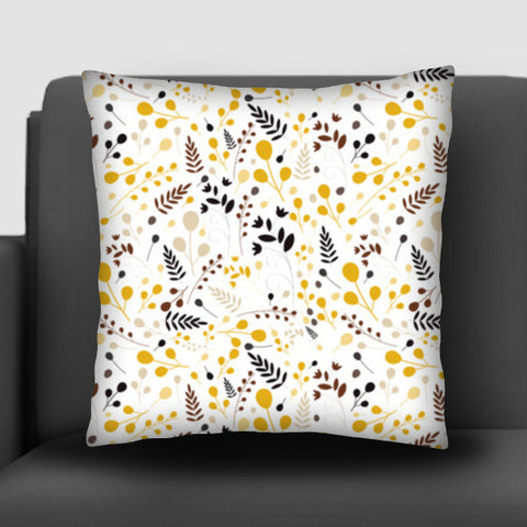 Floral seamless pattern on yellow Cushion Covers | Artist : Designerchennai
