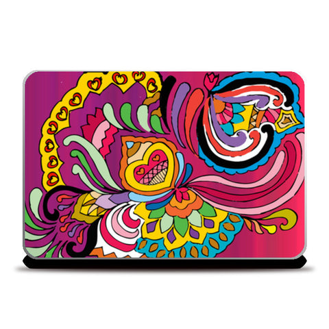 Flower Doodle Design Laptop Skins | Artist : Design_Dazzlers