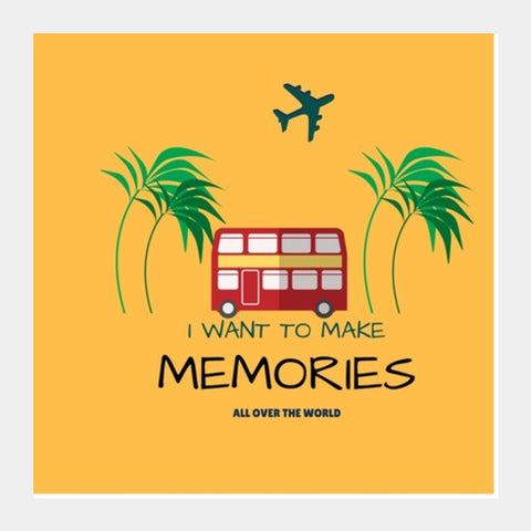 Travel Memories Square Art Prints | Artist : Pallavi Rawal