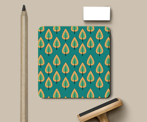 Leaf design pattern Coasters | Artist : Designerchennai