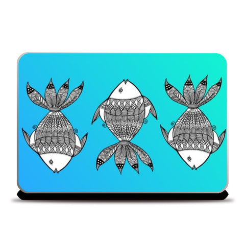 Fish Patterns Laptop Skins | Artist : Amulya Jayapal