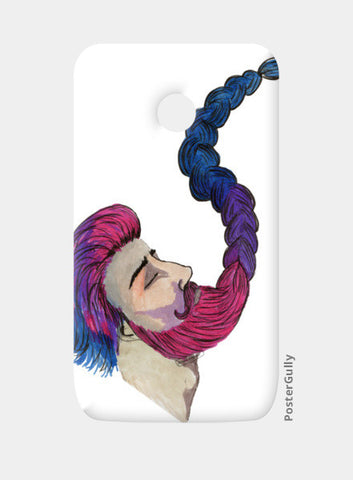 Hipster Beard Man Moto E Cases | Artist : An Aliens Art