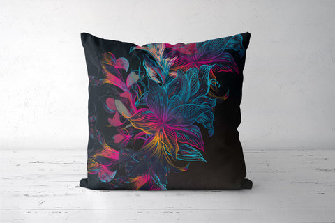 Bohemian Jungle Floral Cushion Covers | Artist : Inderpreet Singh