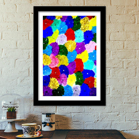 Premium Italian Wooden Frames, Abstract colors  Premium Italian Wooden Frames | Artist : Ajooni Singh, - PosterGully - 1