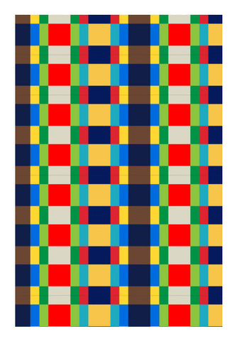 Multi Colored Tile Pattern Art PosterGully Specials