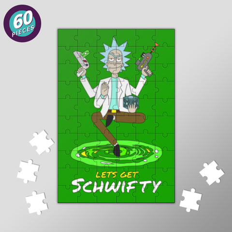 Hey Morty, lets get Schwifty Jigsaw Puzzles | Artist : 8bitbaba