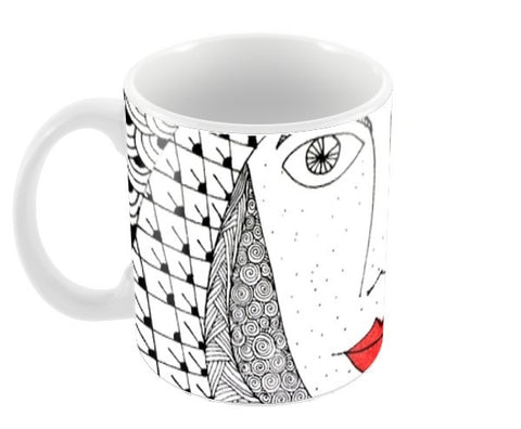 The Fashionista Coffee Mugs | Artist : Sriparna Chandra