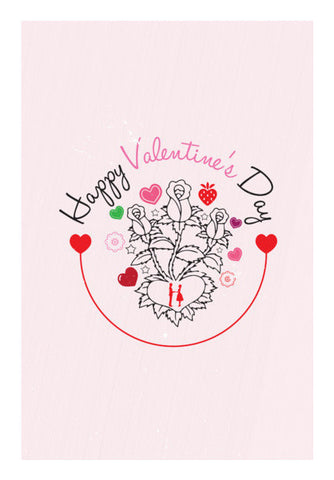 Floral Vector With Colorful Hearts Art PosterGully Specials