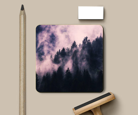 Foggy Night Coasters | Artist : Uma Gokhale