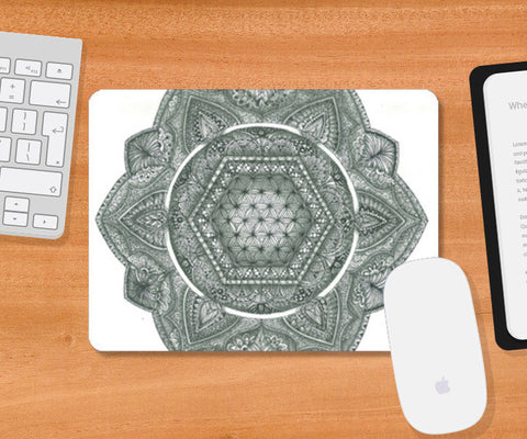 The Flower Of Life Mousepad | Artist : My-Tree
