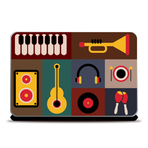 Musical instruments Laptop Skins | Artist : Designerchennai
