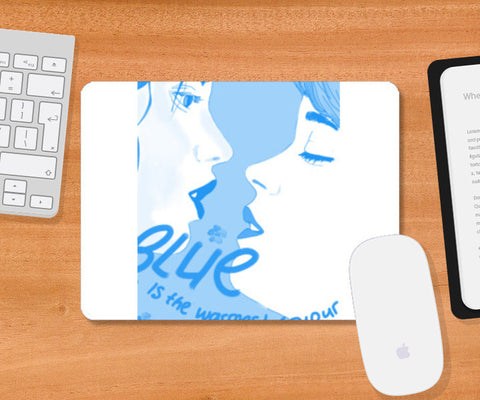 Blue is the warmest colour Mousepad | Artist : Dusty bento