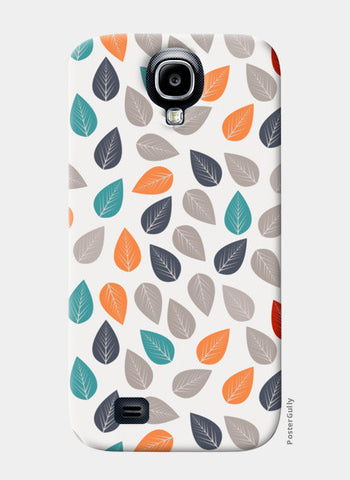 Seamless pattern with multicolored leaf on light background Samsung S4 Cases | Artist : Designerchennai