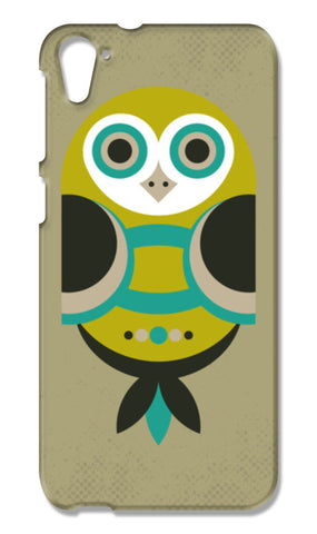 Unique geometric owl on dark HTC Desire 826 Cases | Artist : Designerchennai