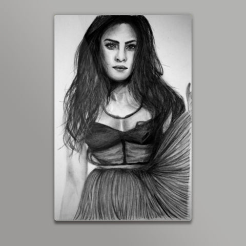 About a girl  Metal Prints | Artist : Chahat Suri