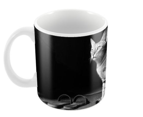 The Temple Cat Coffee Mugs | Artist : Design Chanakya
