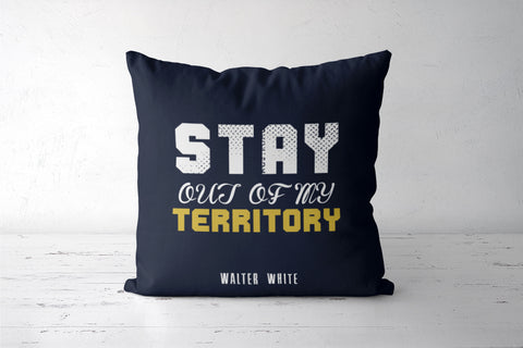 Stay out of my territory Cushion Cover | Artist: Prashant Negi