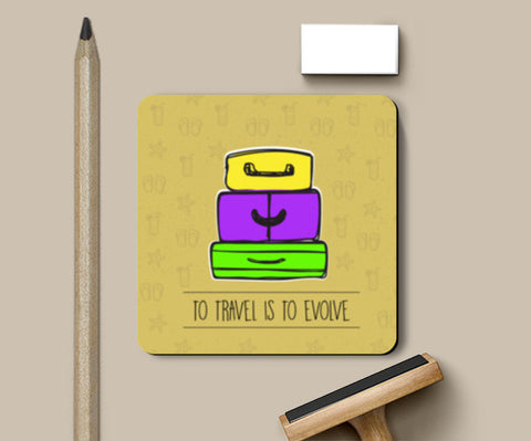 PosterGully Coasters, To Travel Is to Evolve Coasters | Artist : Stuti Bajaj, - PosterGully