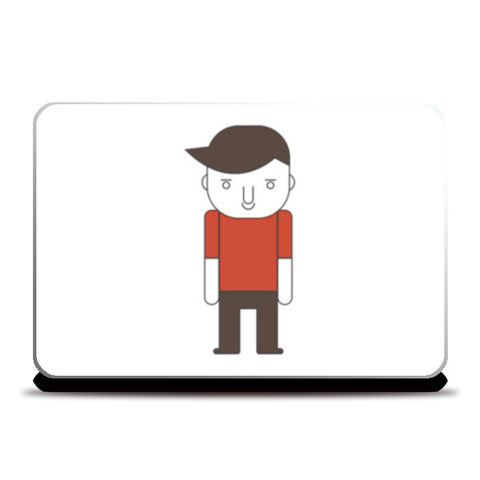 Cartoon Young Sad Guy Laptop Skins | Artist : Mani Selvam