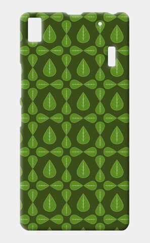 Seamless pattern with leaves on green background Lenovo K3 Note Cases | Artist : Designerchennai