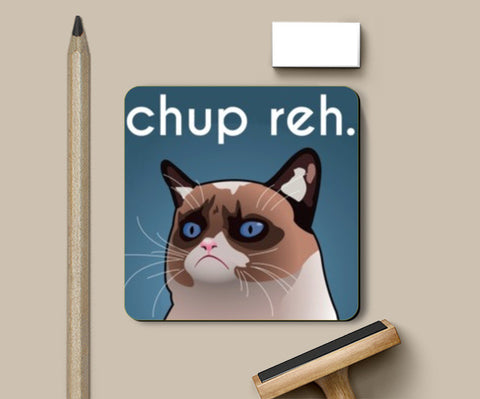 Coasters, Grumpy Cat Funny Coasters | Artist : Akshit Banta, - PosterGully