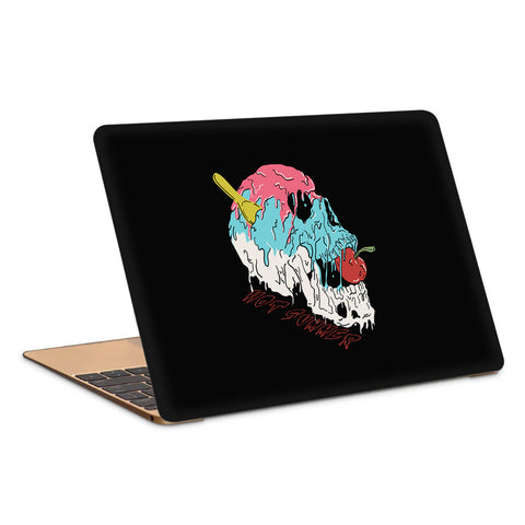 Summer Colorful Melting Skull Artwork Copy Laptop Skin
